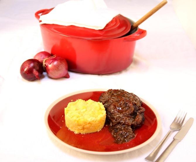 Osso bucco au vin rouge et sa polenta au ch vre payette for Vin rouge cuisine
