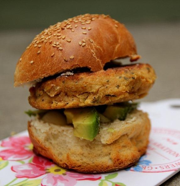 Burger falafels