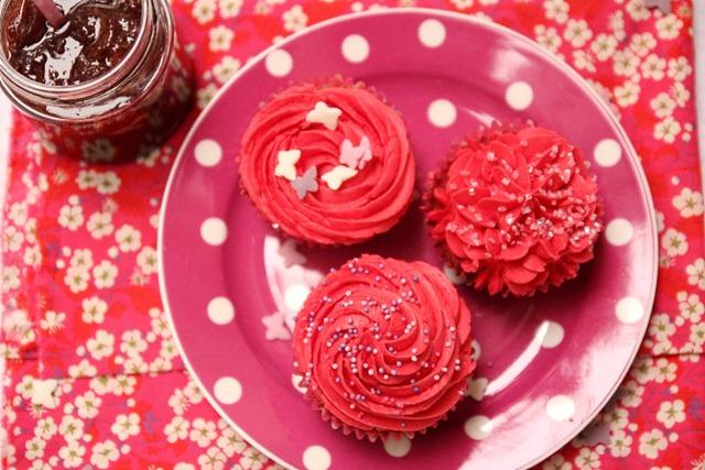 cupcakes fourrés à la fraise