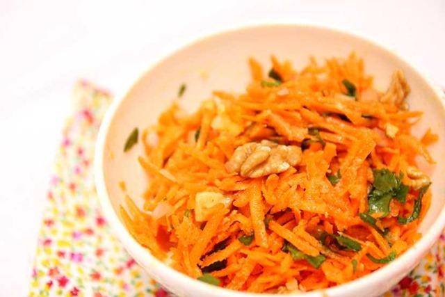 Salade de carotes noix