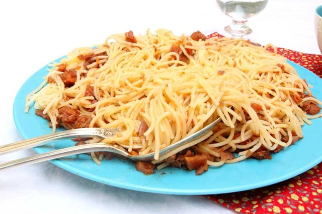 Spaghettis bolo légumes