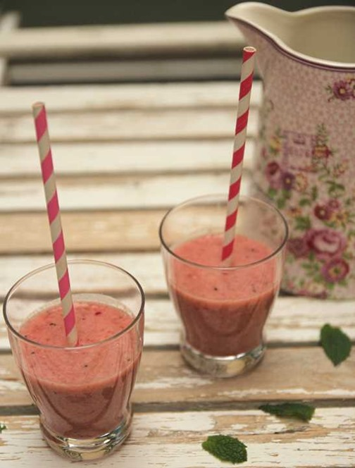 Smoothie bananes fraises