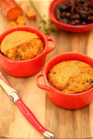 cake chorizo olives ail des ours végétarien