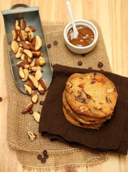 Cookies chocolat confiutre de lait noix du Brésil