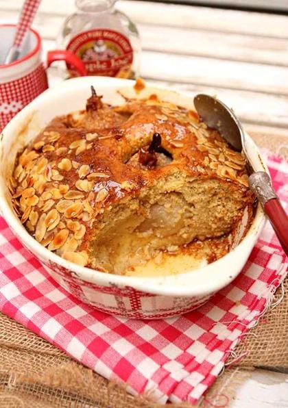 Gâteau poires amandes sirop d'érable