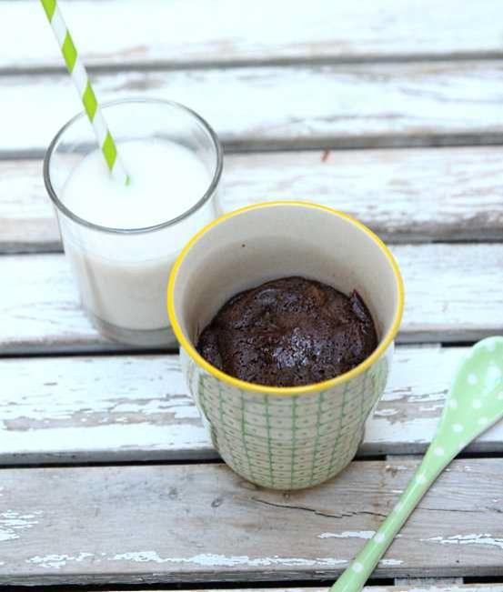 Mug cake au chocolat vegan